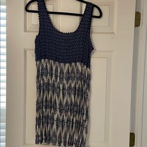Blue and tan sun dress from Nordstrom